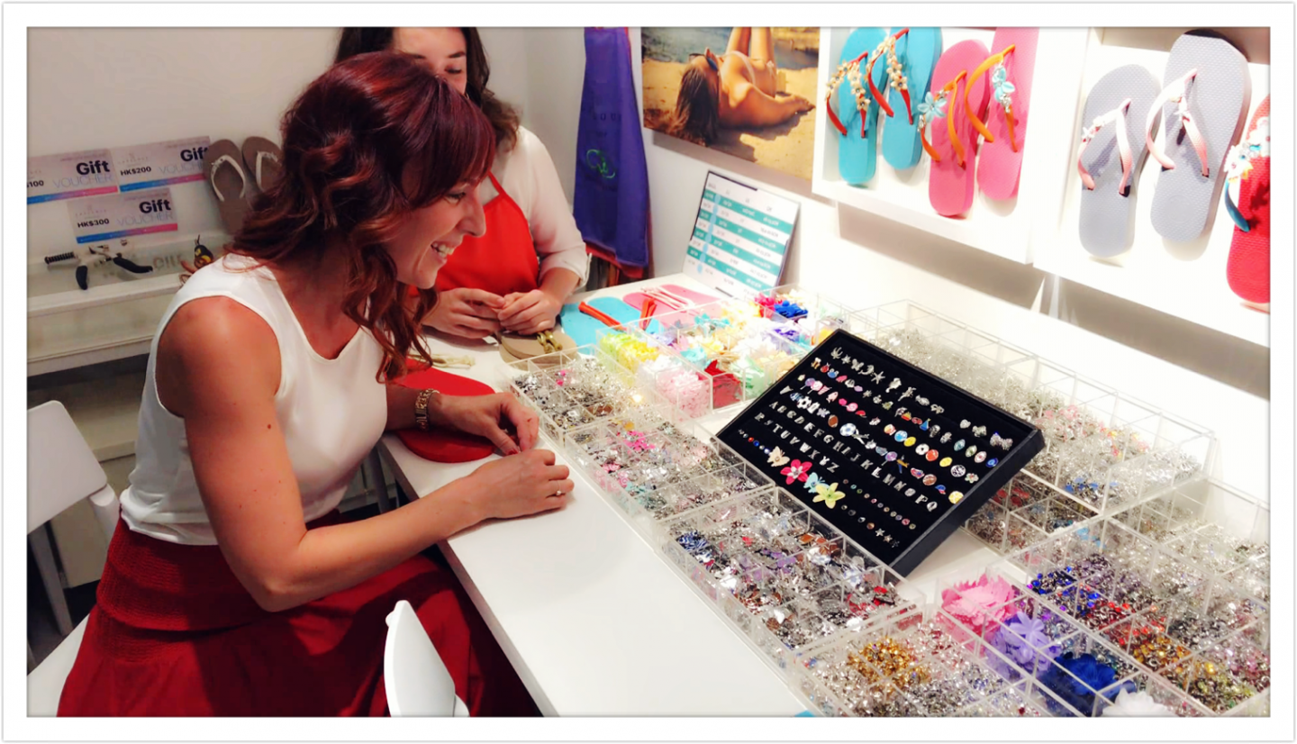 Cool beach essentials: create your own chic flip-flops at Lavulous Workshop